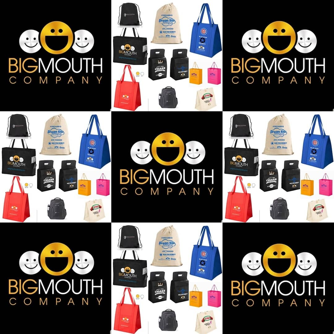 collection of branded tote bags